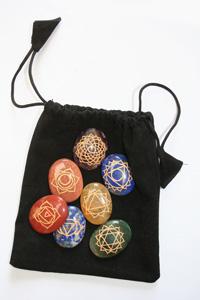 Chakra stone set in bag