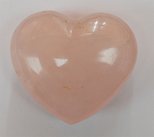 Rose Quartz Heart 7 x 7 cms.