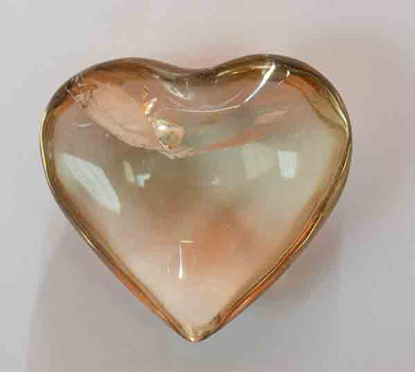 Quartz Heart 4 x 5 cms.