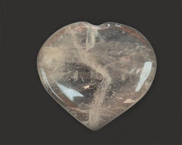 Quartz Heart B grade 3 cms.