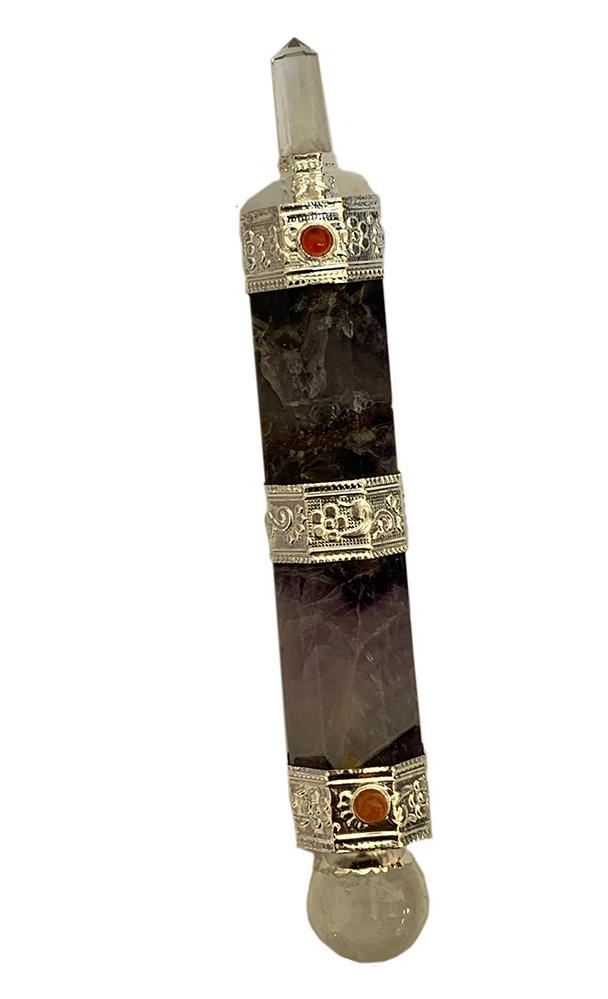 Amethyst chakra wand 7 inch