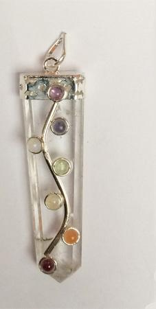 Crystal Flower Chakra Pendant