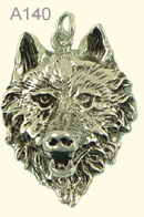 Wolf head large