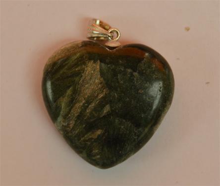 Seraphinite Heart Pendant