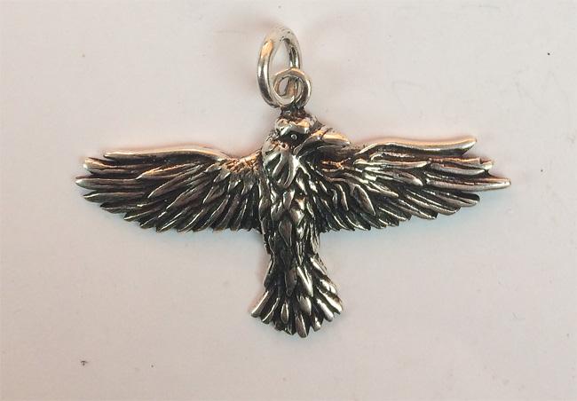 Large Celtic Raven Pendant