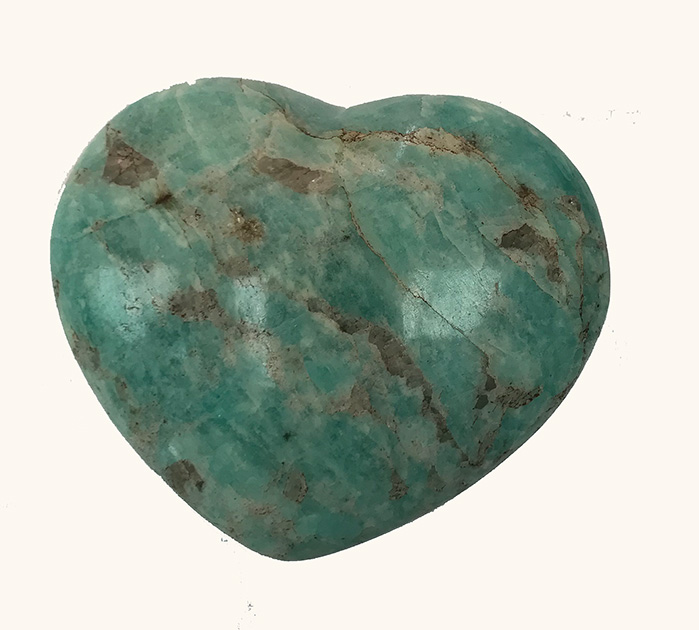 Amazonite Heart 2 inches