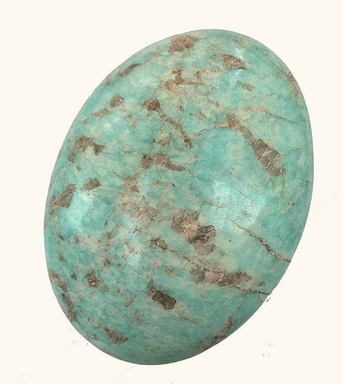 Amazonite Palm 3 x 2 inches