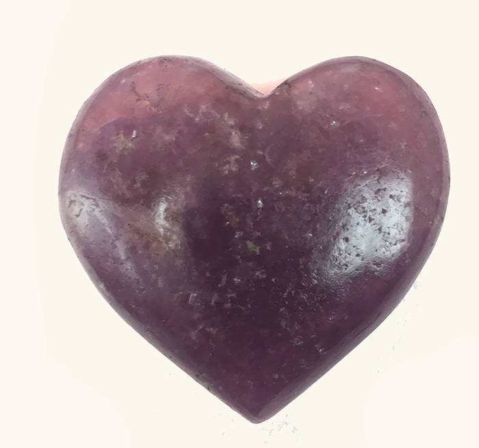 Lepidolite Heart 1.5 inches