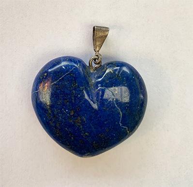 Lapis Lazuli A grade heart pendant 1.5 inches