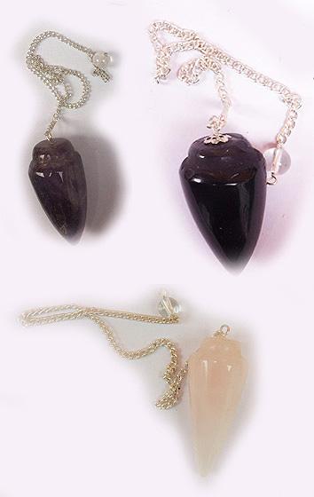 Pendulums:  amethyst,rose quartz, quartz