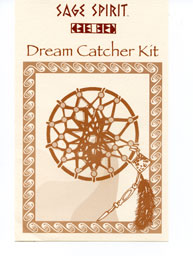 Apache dream catcher kit. Each kit includes a 3 inch ring, 2 yards of suede lace, 2 yards of natural sinew and 6 natural beads with instructions