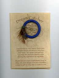 Apache 2 inch dream catcher with card +ACY- Envelope