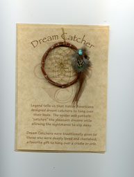 Apache 2 inch willow dream catcher with card & envelope