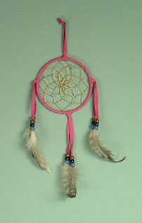 Navajo 4 inch  dream catcher