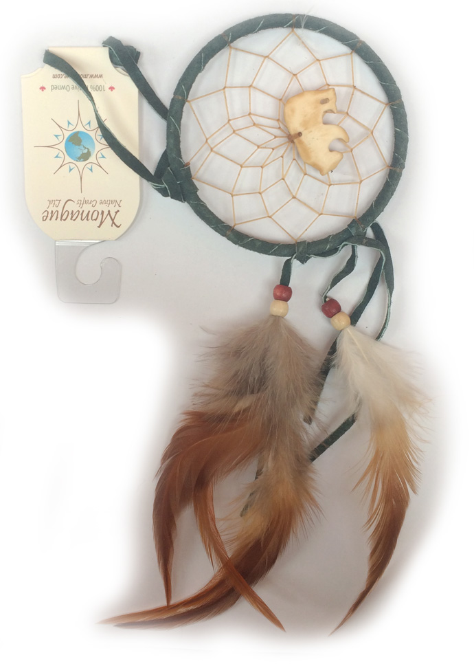 Dream catcher with  bone animal, Canada