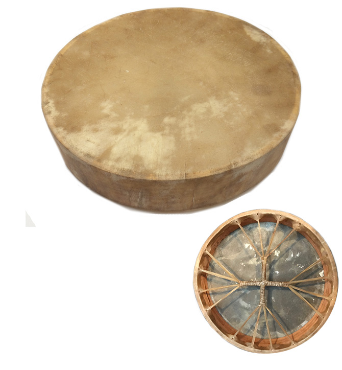 Drum, with beater, 16 inch made in Pakistan