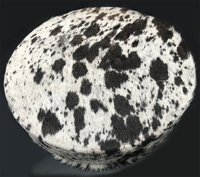 Drum mottled cow hide, hair on, with beater 18 inch made in Pakistan