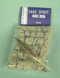 Tiny sage package 6 sticks+feathers