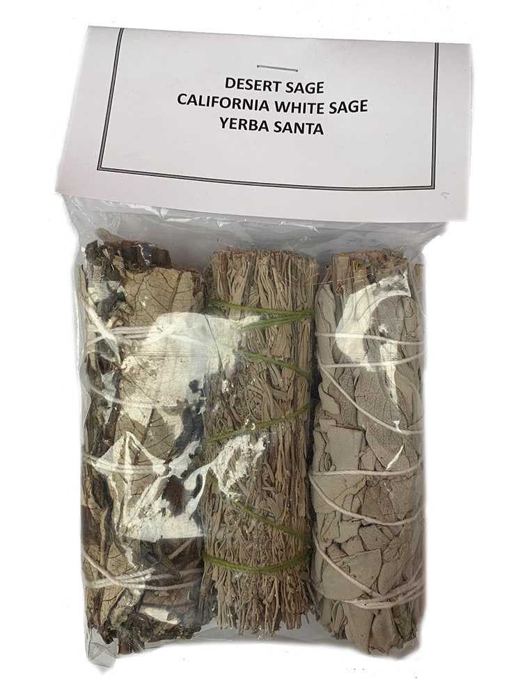 4 inch assorted 3-pack, desert sage, white sage and yerba santa