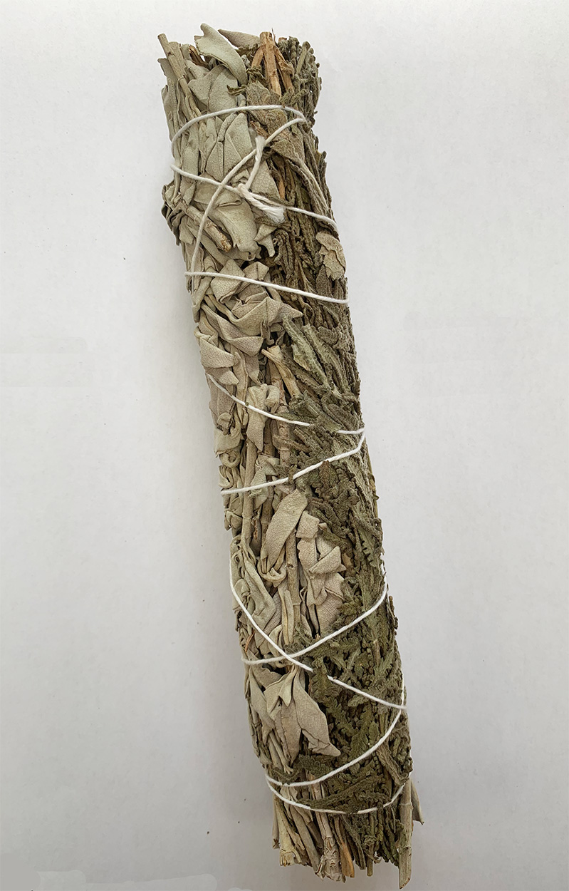 White Sage and Lavender Smudge Stick 8 inch