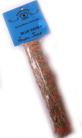 Angel Sage and blue sage  7 inch wand