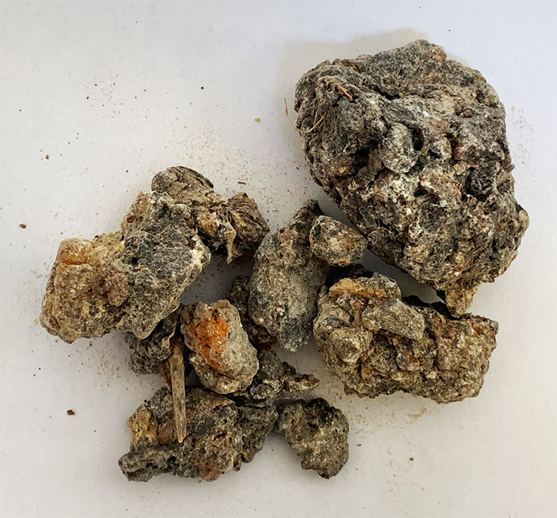 Frankincense, black, Boswellia Papyrifera, 1 lb. 453g. Bag