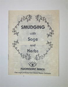Booklet Smudging with Sage and Herbs