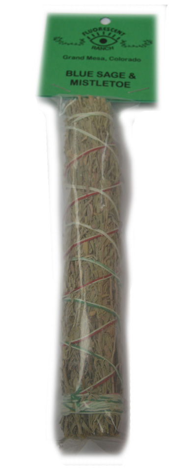 Blue Sage and Mistletoe 7 inch Smudge Stick