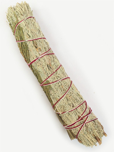 Sage, Cedar and Sweetgrass 7 inch Smudge Stick, unpackaged