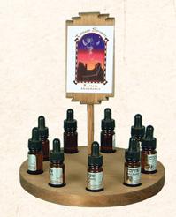 9 Bottle Totem Oil Sampler, wood