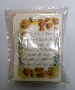 Copal 6 cards / pack each card has a sachet of the resin to burn