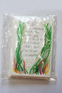 Sweetgrass 6 cards/pack each card has a sachet of the herb to burn