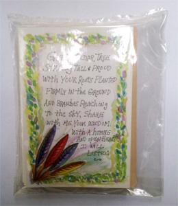 Cedar 6 cards / pack each card has a sachet of the herb to burn