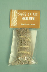 Small sage and copal, 5 inch