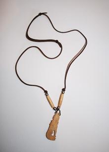 Mini bone effigy necklace ; specify animal