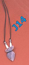 Stone arrowhead pendant