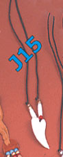 Bone claw pendant