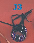 Wristband 5 rows- bone[white] or horn[black]
