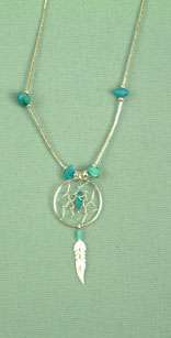Pendant dream catcher 0.5 inch with chain