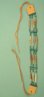 Three row choker, real turquoise beads, Navajo
