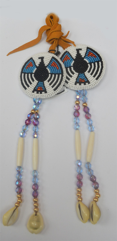Iroquois Rosette Hair Ties, pair