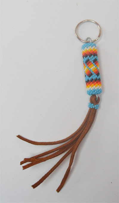 Beaded Keychain large, Navajo