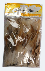 Cock Saddle Hackles,natural 20g. Bag