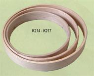Drum frame, round 12 inch, red oak, ash or birch
