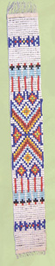 Beaded strip, Oklahoma style 1.25 inch x 10 inch