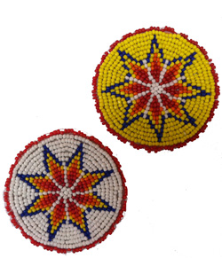 Star Rosettes 2.5 inch red, yellow ,black ,turquoise  or white