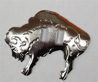 Conchos, metal buffalo 5 x 4 cm 10 per bag