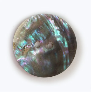 Abalone Shell disc 1.5 inch 2 holes