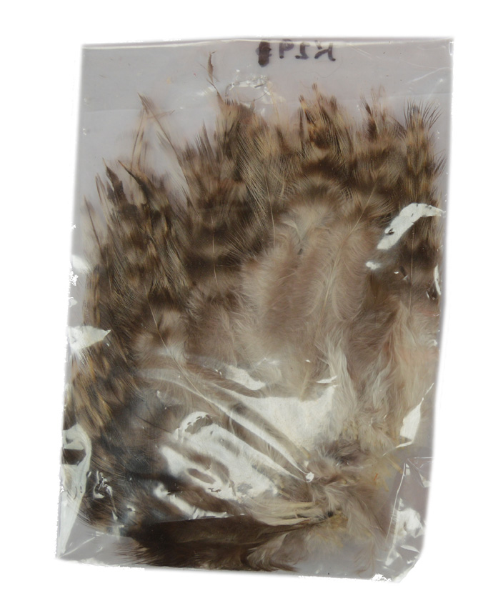 Chinchilla saddle hackles 3-6 inch brownish grey 3g. Bag