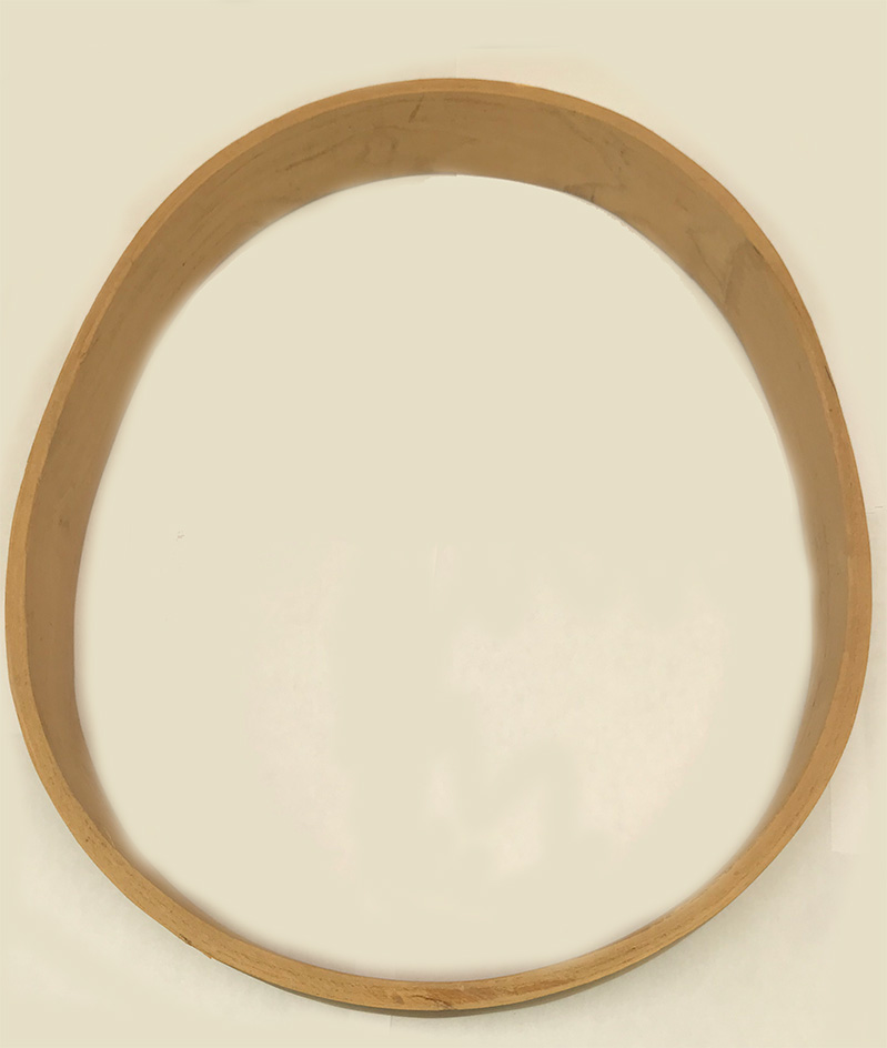 Drum frame  oval, mulberry, 14 x 18 inches